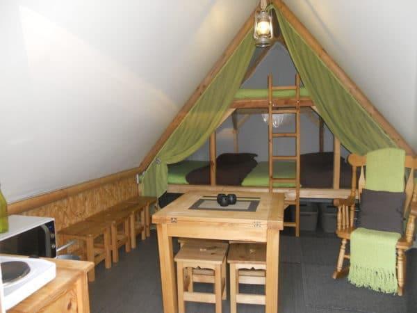 tente prospecteur de l 39 interieur camping de l 39 aigrettecamping de l 39 aigrette. Black Bedroom Furniture Sets. Home Design Ideas
